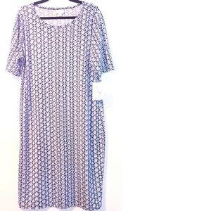 3XL Lularoe Julia Dress NWT - Blue Print Dress
